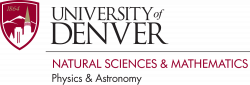 University of Denver, Physics and Astronomy Department
